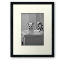 The Furry Plug Framed Print
