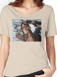 Sky Woman Iroquois Mother Goddess Women's Relaxed Fit T-Shirt