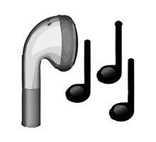 Headphone Apple / WhatsApp Emoji by emoji