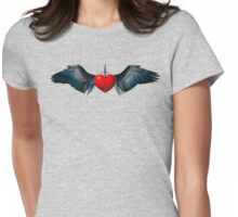 Dagger Heart by ©Fractal Tees Womens Fitted T-Shirt