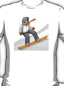 Snowboarder Apple / WhatsApp Emoji T-Shirt