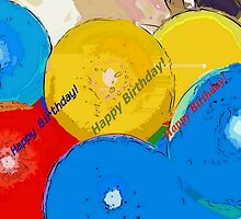 Party balloons by ♥⊱ B. Randi Bailey