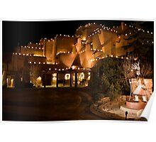 La Fonda Hotel at Christmas  Poster