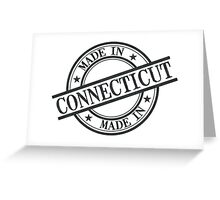 Made In Connecticut Stamp Style Logo Symbol Black Greeting Card