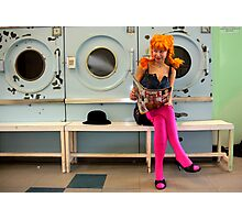 Helen at the Laundrette Photographic Print