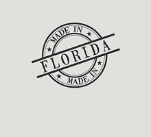 Made In Florida Stamp Style Logo Symbol Black Unisex T-Shirt