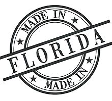 Made In Florida Stamp Style Logo Symbol Black by surgedesigns