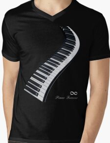 Piano Forever Mens V-Neck T-Shirt