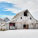 Winter White Barn by Kenneth Keifer