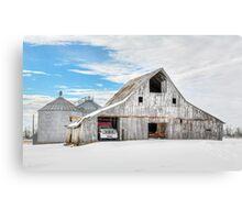 Winter White Barn Canvas Print