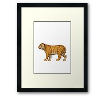 Tiger Apple / WhatsApp Emoji Framed Print