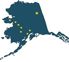 North American State of Alaska by retromoomin