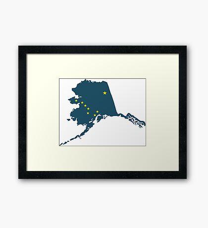 North American State of Alaska Framed Print