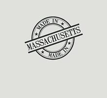 Made In Massachusetts Stamp Style Logo Symbol Black Unisex T-Shirt
