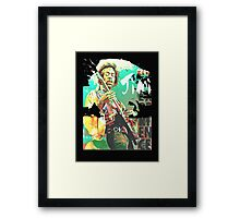 jimi guitar Framed Print