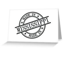 Made In Mississippi Stamp Style Logo Symbol Black Greeting Card