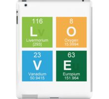 Love Periodic Table Elements iPad Case/Skin