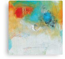 Abstract Blue Orange Art Print Canvas Print
