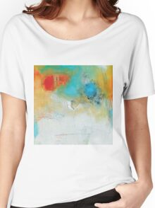 Abstract Blue Orange Art Print Women's Relaxed Fit T-Shirt