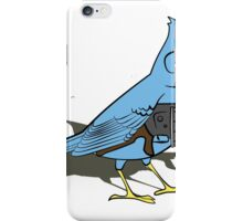 Budgie with a Gun Blue iPhone Case/Skin
