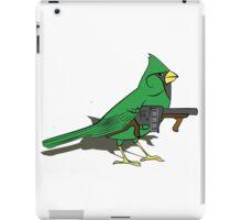 Budgie with a Gun Green iPad Case/Skin