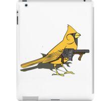 Budgie with a Gun Yellow iPad Case/Skin