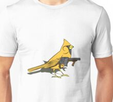 Budgie with a Gun Yellow Unisex T-Shirt