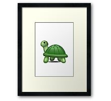 Turtle Apple / WhatsApp Emoji Framed Print