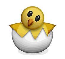 Hatching Chick Apple / WhatsApp Emoji by emoji