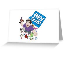 """Hey Guys!"" Cartoon Greeting Card"