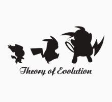 Darwin - Theory Evolution - pikachu - pokemon Kids Clothes