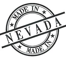 Made In Nevada Stamp Style Logo Symbol Black by surgedesigns