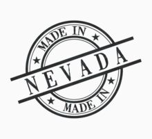 Made In Nevada Stamp Style Logo Symbol Black Kids Tee