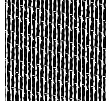 Barbed Wire Pin Stripes Photographic Print