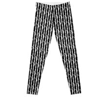 Barbed Wire Pin Stripes Leggings