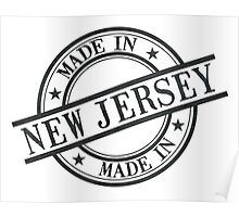 Made In New Jersey Stamp Style Logo Symbol Black Poster