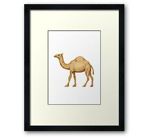 Dromedary Camel Apple / WhatsApp Emoji Framed Print