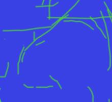 Electric Blue Sticker