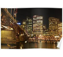 Pyrmont Bridge with Sydney City Poster
