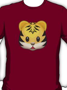 Tiger Face Apple / WhatsApp Emoji T-Shirt