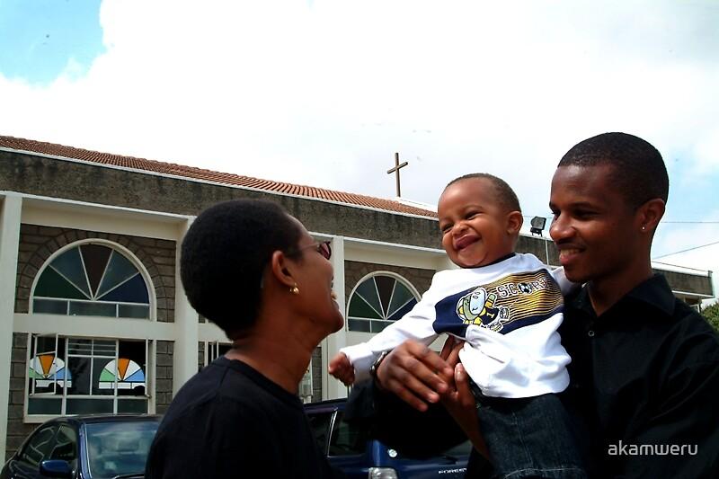 Family in Church by akamweru