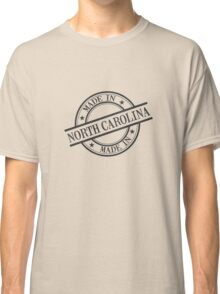 Made In North Carolina Stamp Style Logo Black Classic T-Shirt