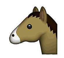 Horse Face Apple / WhatsApp Emoji by emoji