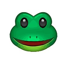 Frog Face Apple / WhatsApp Emoji by emoji