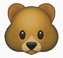 Bear Face Apple / WhatsApp Emoji Kids Clothes