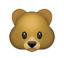 Bear Face Apple / WhatsApp Emoji by emoji