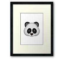 Panda Face Apple / WhatsApp Emoji Framed Print