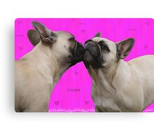 French Kisses Canvas Print