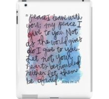 John 14:27 Watercolor Print iPad Case/Skin