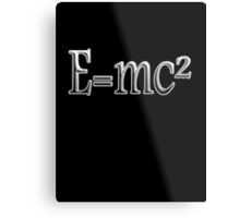 Albert Einstein, E=MC2, Mass x Energy, Squared, On Black, Mass, Energy Equivalence, Equation, Metal Print